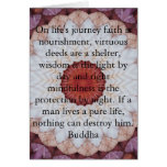 Buddha inspirational QUOTE  life's journey faith Cards