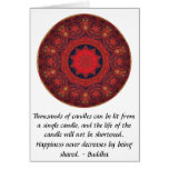 Buddha inspirational QUOTE - Thousands of candles Card