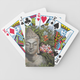 Buddha & Jungle Flowers Bicycle Playing Cards