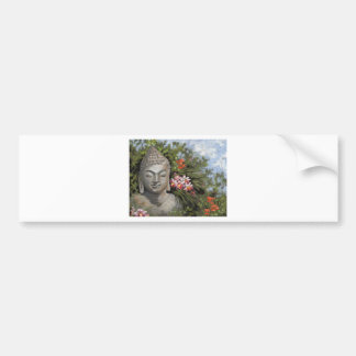 Buddha & Jungle Flowers Bumper Sticker