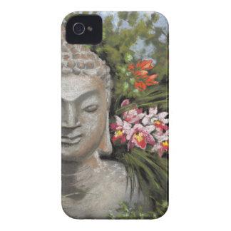 Buddha & Jungle Flowers iPhone 4 Covers