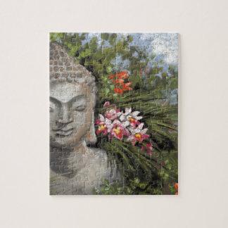 Buddha & Jungle Flowers Jigsaw Puzzle