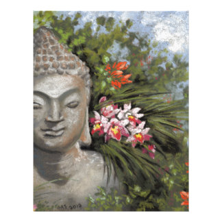 Buddha & Jungle Flowers Letterhead