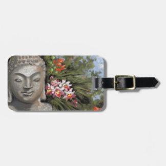 Buddha & Jungle Flowers Luggage Tag