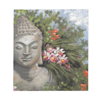 Buddha & Jungle Flowers Notepad