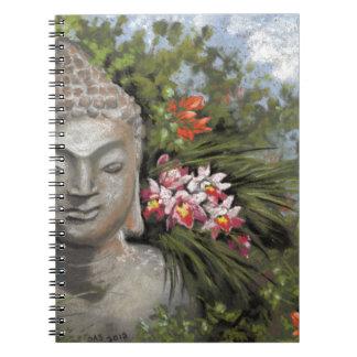 Buddha & Jungle Flowers Spiral Notebook