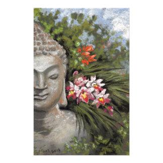 Buddha & Jungle Flowers Stationery