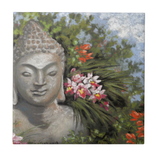 Buddha & Jungle Flowers Tile