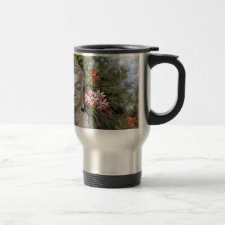 Buddha & Jungle Flowers Travel Mug