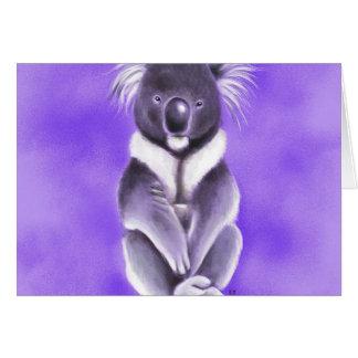 Buddha koala card