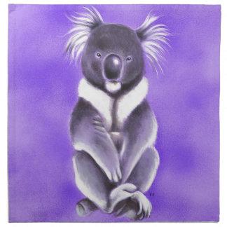 Buddha koala napkin