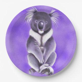 Buddha koala paper plate