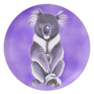 Buddha koala plate