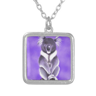 Buddha koala silver plated necklace