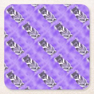 Buddha koala square paper coaster