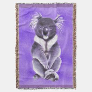 Buddha koala throw blanket