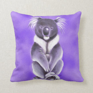 Buddha koala throw pillow