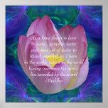 Buddha Lotus flower Poster