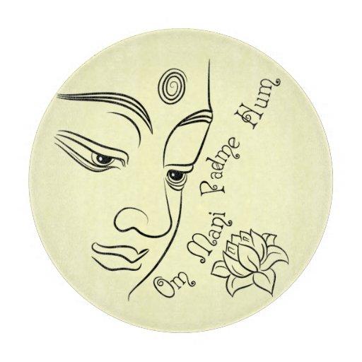 Buddha Lotus Om Mani Padme Hum Cutting Boards