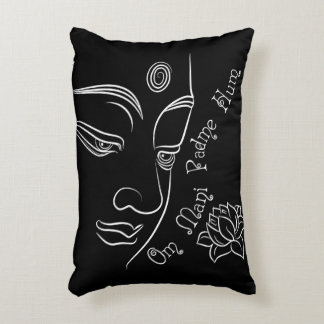 Buddha Lotus Om Mani Padme Hum Accent Pillow