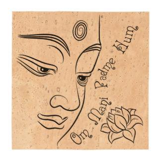 Buddha Lotus Om Mani Padme Hum Drink Coaster