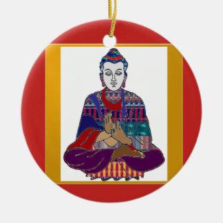 BUDDHA Mahatma Buddhism Kind peace LOVE LIGHT Ceramic Ornament