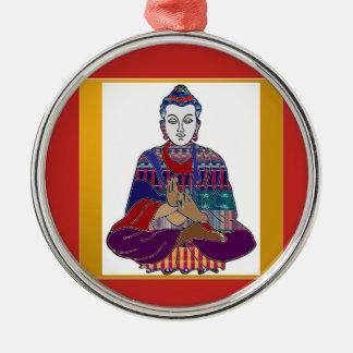 BUDDHA Mahatma Buddhism Kind peace LOVE LIGHT Metal Ornament