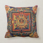 Buddha Mandala Antique Tibetan Thanka Throw Pillow