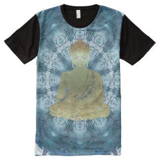 Buddha Mandala applied (blue) All-Over-Print T-Shirt