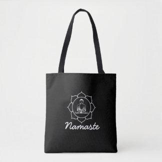 Buddha Mandala Black Tote Bag