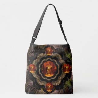 Buddha Mandala Yoga Meditation Art Crossbody Bag