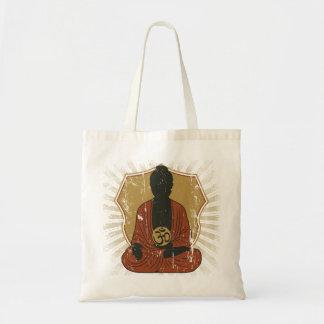 Buddha Meditating Om Symbol Budget Tote Bag