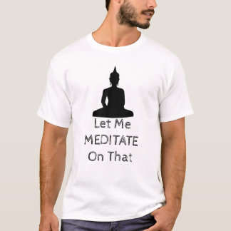 Buddha Meditation Black T-Shirt