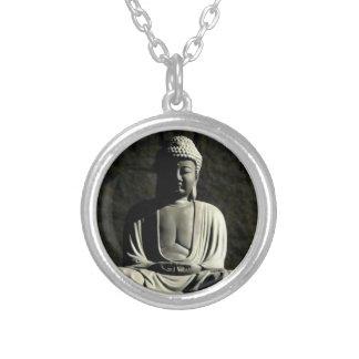 Buddha Meditation Silver Plated Necklace