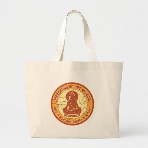Buddha Meditation Wisdom Tote Bag