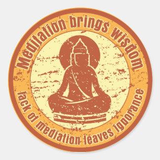 Buddha Meditation Wisdom Classic Round Sticker