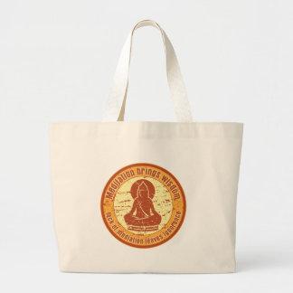 Buddha Meditation Wisdom Jumbo Tote Bag