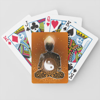 Buddha Meditation Ying Yang Design Bicycle Playing Cards