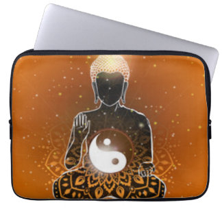Buddha Meditation Ying Yang Design Laptop Sleeve