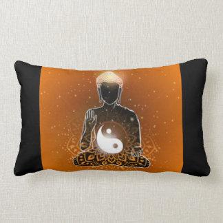 Buddha Meditation Ying Yang Design Lumbar Pillow