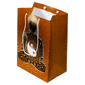 Buddha Meditation Ying Yang Design Medium Gift Bag