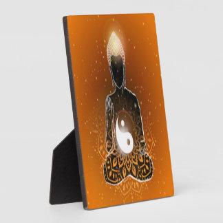 Buddha Meditation Ying Yang Design Plaque