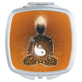 Buddha Meditation Ying Yang Design Vanity Mirror