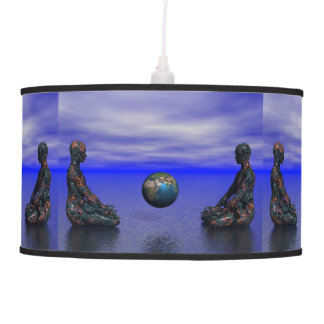 buddha metal and planet hanging lamps