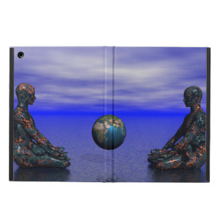 buddha metal and planet iPad air cover
