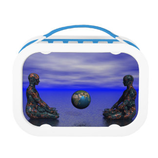 buddha metal and planet lunch box