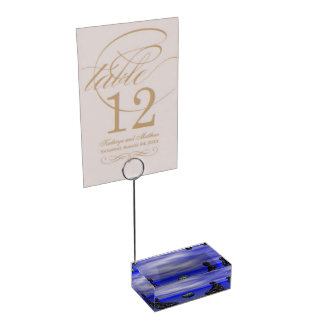 buddha metal and planet table card holders