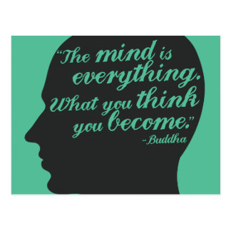 Buddha Mind and thought quote postcard