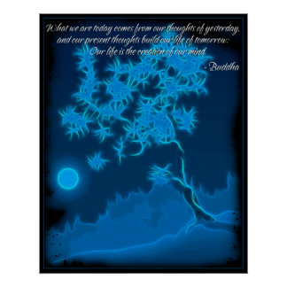 Buddha Mind Quote Poster