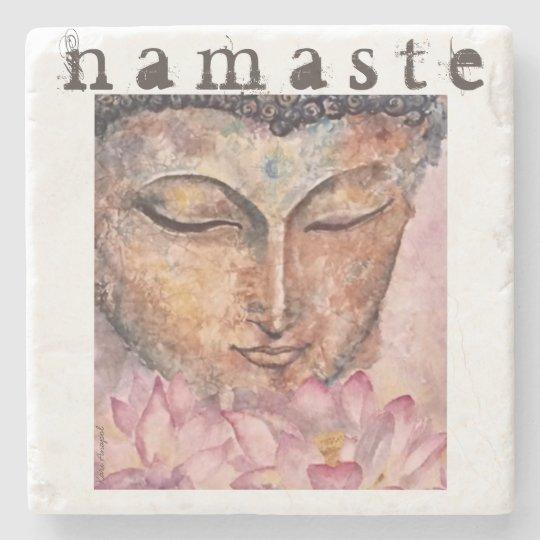 Buddha Namaste Watercolor Art Stone Coaster
